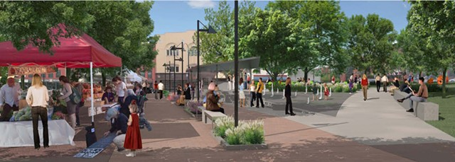 The planned City Hall Park central promenade - COURTESY OF THE CITY OF BURLINGTON