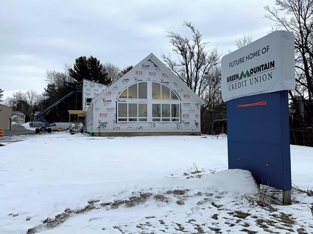 Green Mountain Credit Union branch under construction - PHOTOS: KEN PICARD