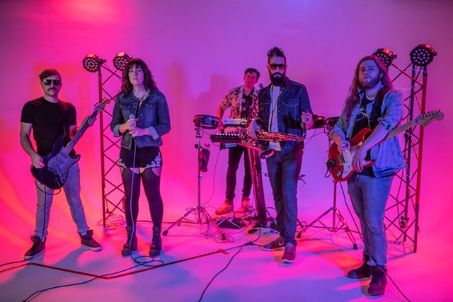 """Night Protocol on the """"Time Is Running Out"""" video shoot - COURTESY PHOTO"""