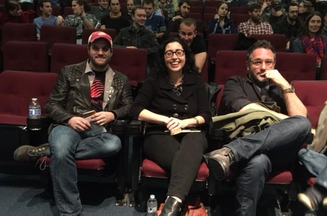 The Sleepless in Burlington judges: From left: Mark Covino, Eva Sollberger, Colin Trevorrow - COURTESY OF KAREN GOLDEN