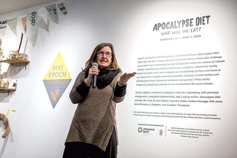 Doreen Kraft speaking at an opening at BCA Center - FILE: LUKE AWTRY