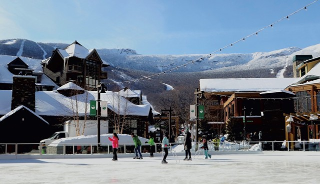 Skating is free in this picturesque ski village - TRISTAN VON DUNTZ