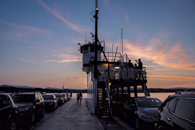 Aboard a Lake Champlain Transportation ferry - FILE: GLENN RUSSELL