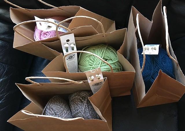 Learn-to-knit kits. - COURTESY OF AMANDA MELTSNER