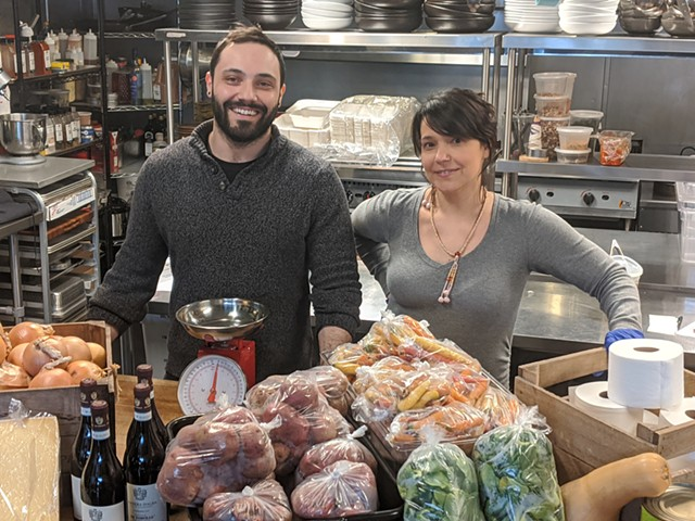 Stefano Cicirello and Susie Ely of Poco restaurant and Poco Mercato - COURTESY OF RESTAURANT POCO