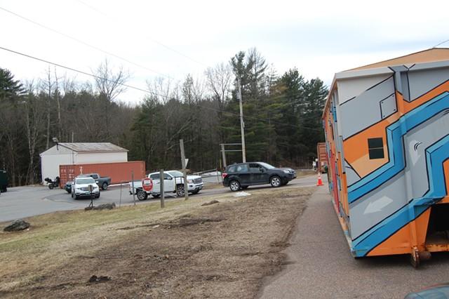Cars entering the Williston drop-off center - MATTHEW ROY