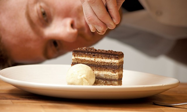 Andrew LeStourgeon and his opera cake - MATTHEW THORSEN