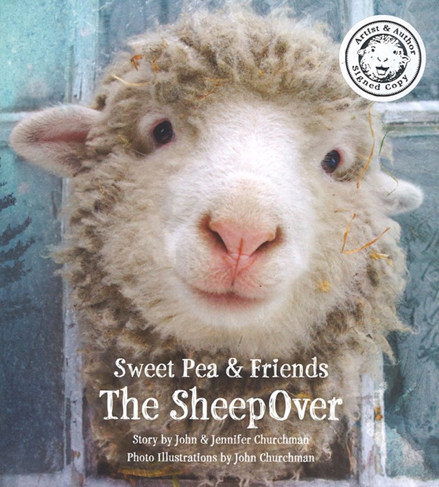 The cover featuring adorable Sweet Pea - COURTESY OF JOHN CHURCHMAN
