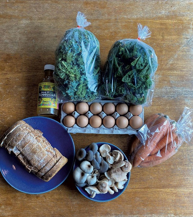 Bread, vegetables and other local groceries from Mieko Ozeki's pantry - COURTESY PHOTO