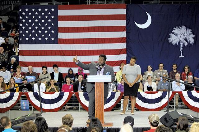 Young Democrats of America Black Caucus chair RaShad Gaines - PAUL HEINTZ