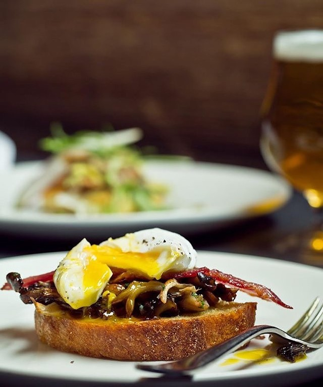Hen of the Wood mushroom toast - COURTESY OF HEN OF THE WOOD