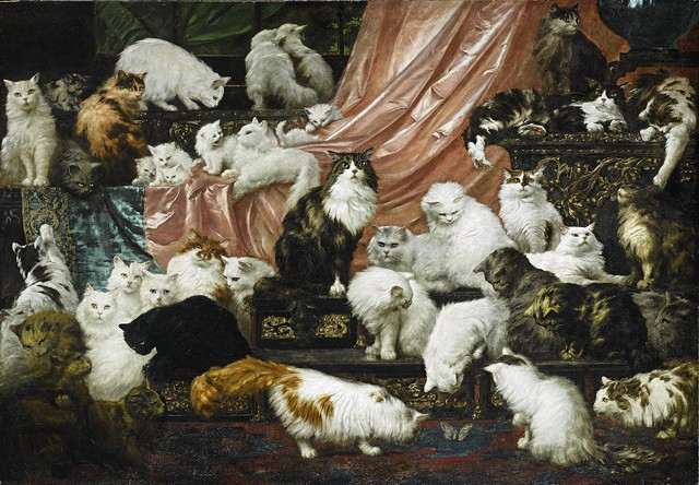 """""""My Wife's Lovers"""" by Carl Kahler - COURTESY OF SOTHEBY'S"""