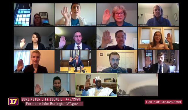 Councilors take the oath of office - SCREENSHOT/CHANNEL 17