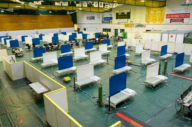 Surge center at Patrick Gymnasium - JAMES BUCK