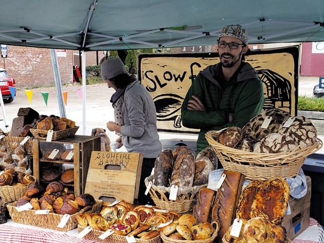 Scott Medellin at the Burlington Farmers Market - MATTHEW ROY