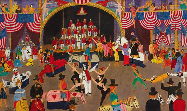 """""""Arts Ball"""" by Samuel Wood Gaylor - COURTESY OF FLEMING MUSEUM OF ART"""