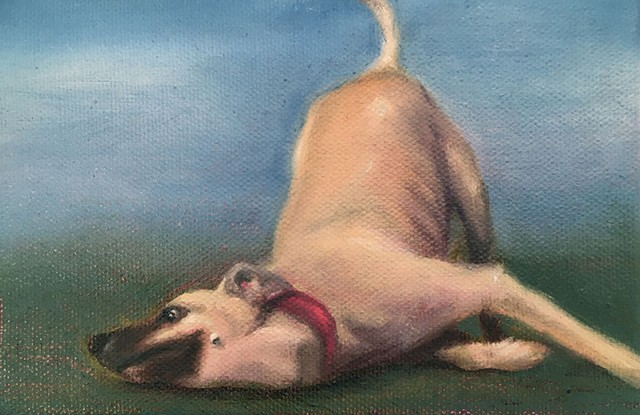 """""""Scratch Happy"""" by Teresa Celemin, in the Studio Place Arts Art to Go silent auction - COURTESY OF STUDIO PLACE ARTS"""