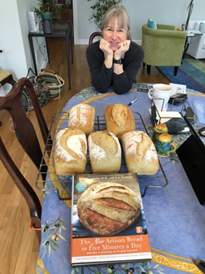 Mary Jane Dieter with loaves of bread ready for delivery - COURTESY OF MARY JANE DIETER