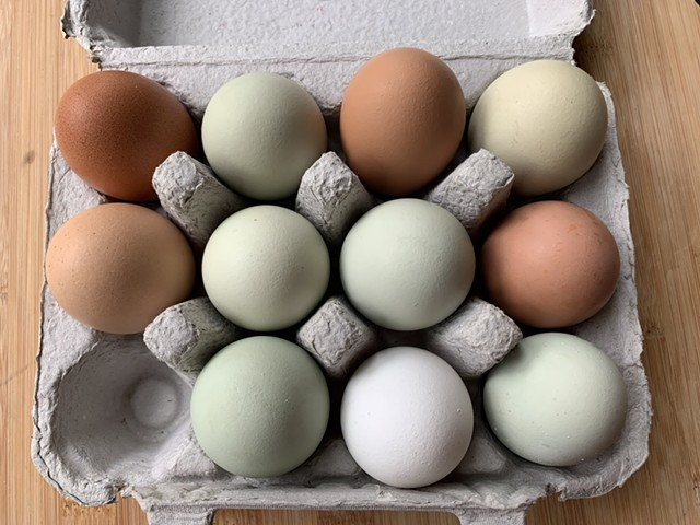 Eggs from Sobremesa in Charlotte bought at Last Resort Farm in Monkton - MELISSA PASANEN
