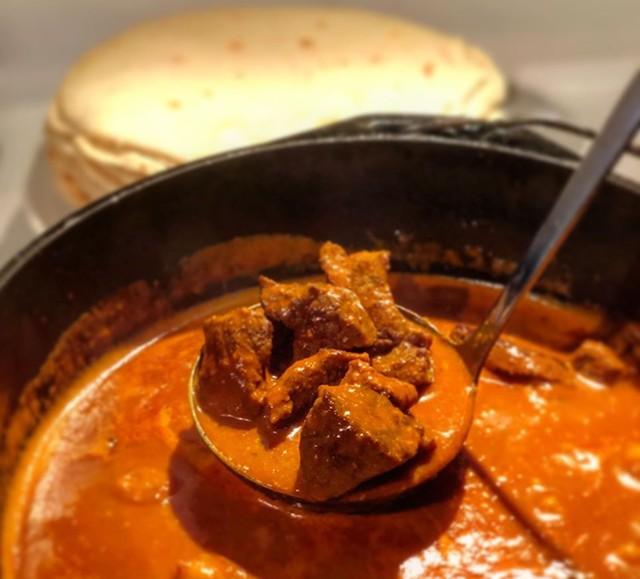 Chile Colorado and housemade flour tortillas - COURTESY OF MARA WELTON