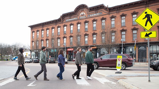 From left: Nick Mavodones, Matt Rogers, Ali Fogel, Paddy Reagan and Brian Nagle in 2019 - FILE: LUKE AWTRY