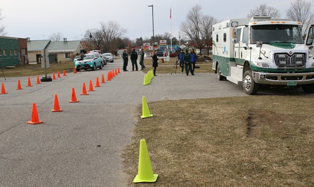 An earlier drive-up testing site in Essex Junction - FILE: COURTNEY LAMDIN