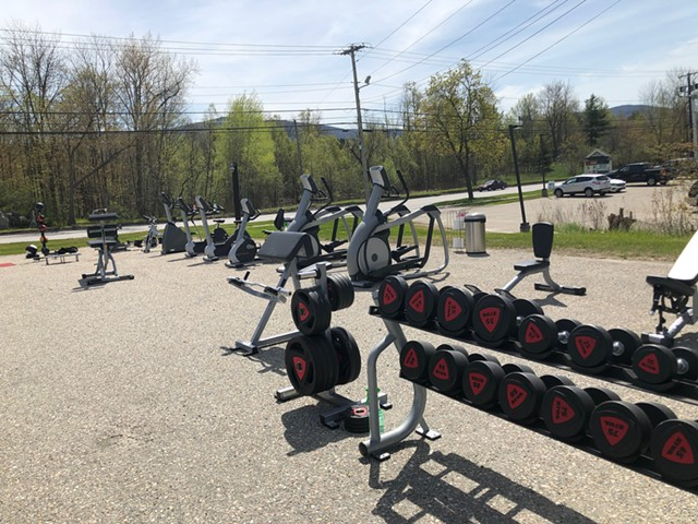 Club Fitness of Vermont parking lot in Rutland - COURTESY OF SEAN MANOVILL