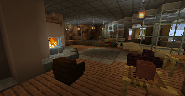 Henderson's Café at UVM, complete with fireplace - COURTESY OF UVM CAMPUSCRAFT