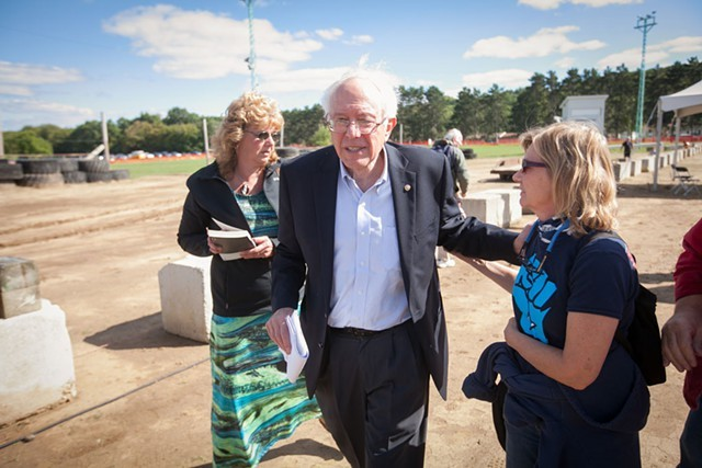 Sen. Bernie Sanders last year in Wisconsin - FILE: ERIC TADSEN