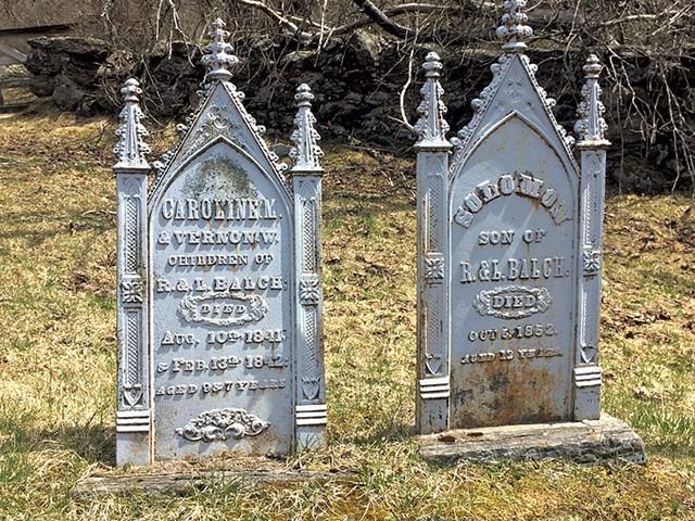 Johnson Plot Cemetary graves - MOLLY ZAPP