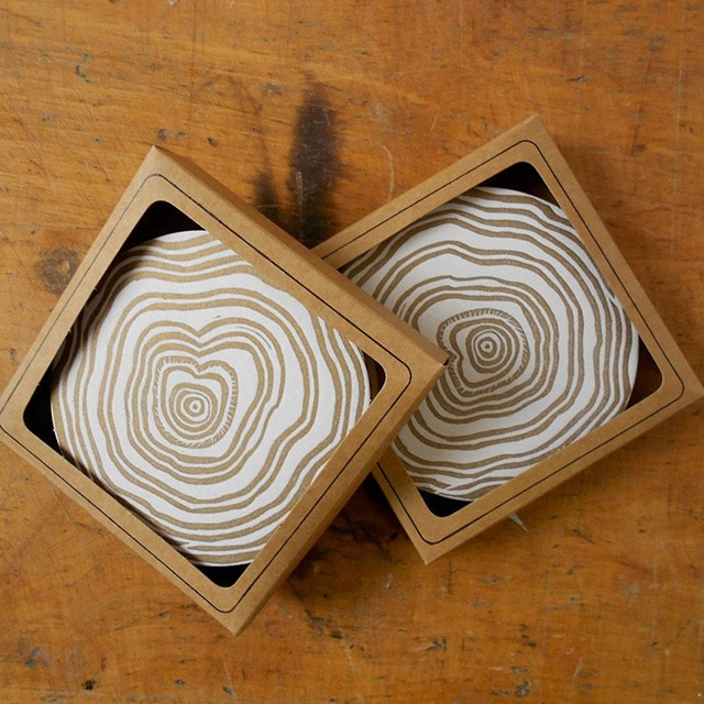 Letterpress Coasters - COURTESY