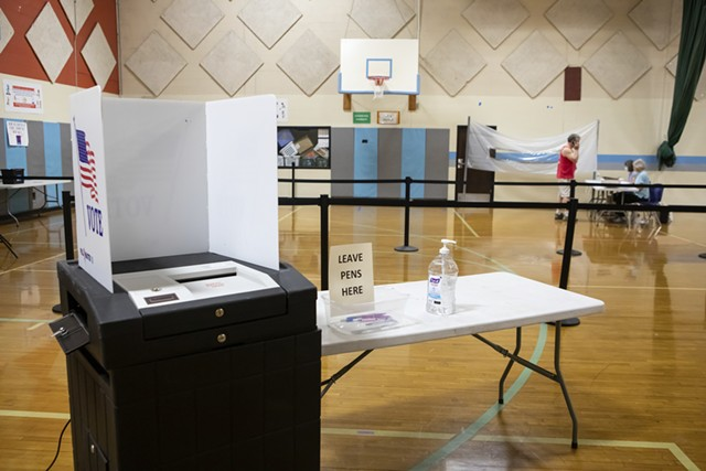 A polling place in South Burlington last week. - LUKE AWTRY