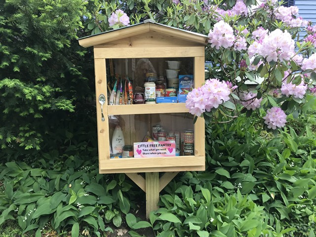 A little free pantry on Loomis Street in Burlington - SALLY POLLAK