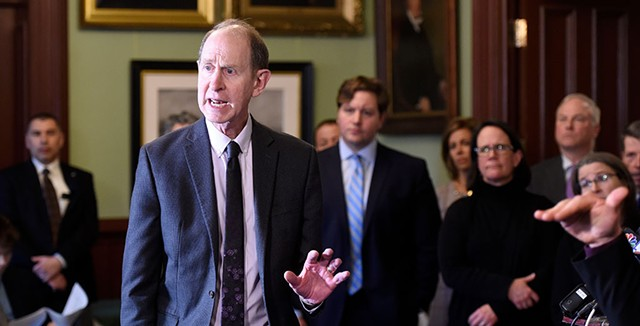 Health Commissioner Mark Levine at a press conference in March - FILE: JEB WALLACE-BRODEUR