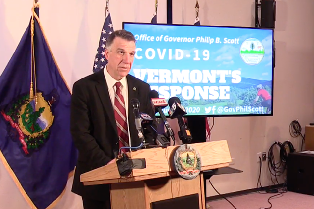 Gov. Phil Scott Friday - SCREENSHOT