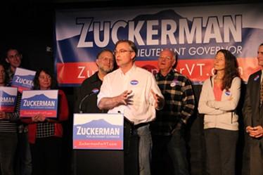 Sen. Phil Baruth introduces Sen. David Zuckerman - PAUL HEINTZ