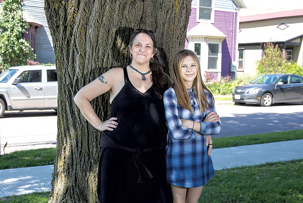 Rebecca Campbell and daughter Sam - JAMES BUCK