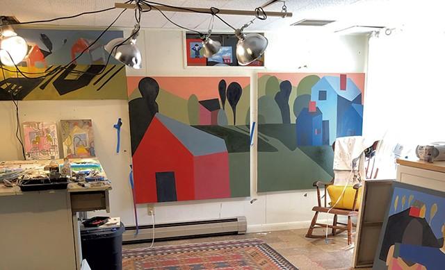 Sage Tucker-Ketcham's studio - COURTESY PHOTO
