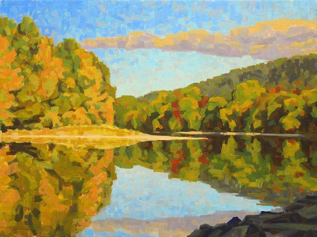 "Phil Laughlin, ""Chemung Autumn"""
