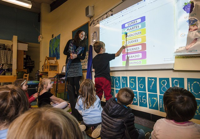 A Spanish lesson at Jericho Elementary School - FILE: GLENN RUSSELL FOR KIDS VT