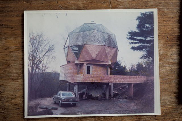 The geodesic dome shortly after its 1976 construction - TOM MCNEILL