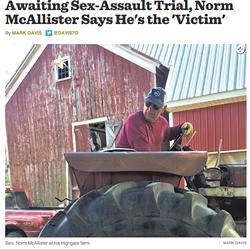 Mark Davis' October 14 article on Norm McAllister. - SEVEN DAYS