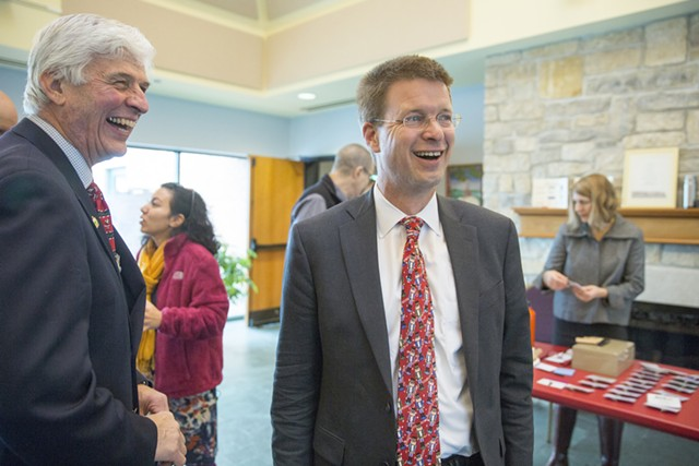 House Speaker Shap Smith Tuesday at a Vermont Businesses for Social Responsibility breakfast in Burlington - JAMES BUCK