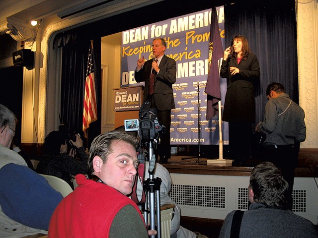 Heath Eiden filming Howard Dean in 2004 - COURTESY OF HEATH EIDEN