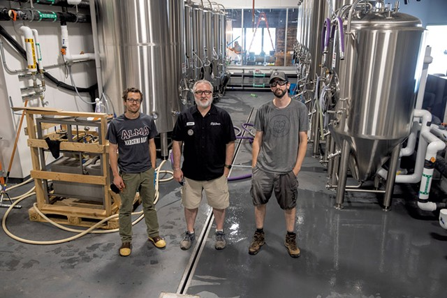 From left: Justin Rito, Chris Kesler and Dan Sartwell of Black Flannel Brewing - JAMES BUCK
