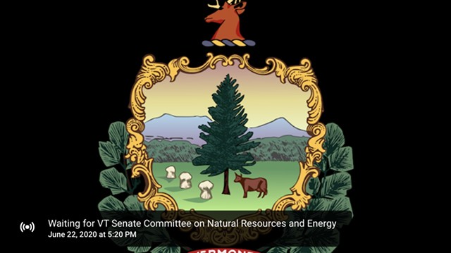 An image displayed of a failed upload of a Senate Committee on Natural Resources meeting - SCREENSHOT