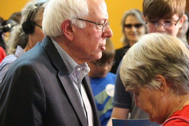 Sen. Bernie Sanders campaigns in Iowa in July - FILE: PAUL HEINTZ