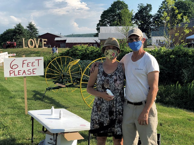 Helen Weston and Mike Isham of Isham Family Farm - JORDAN BARRY