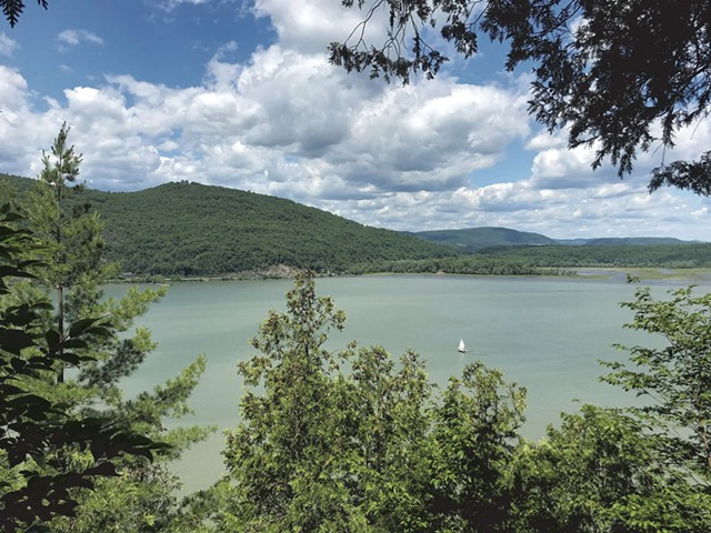 Looking west from Mount Independence  to Fort Ticonderoga and Mount Defiance - SALLY POLLAK