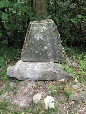 A gravestone at Mount Independence - SALLY POLLAK
